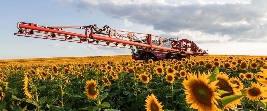 Condor crop sprayer in Sunflower field